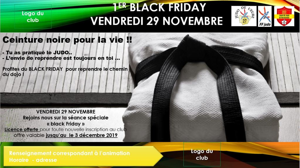 BLACK FRIDAY - VENDREDI 29 NOVEMBRE