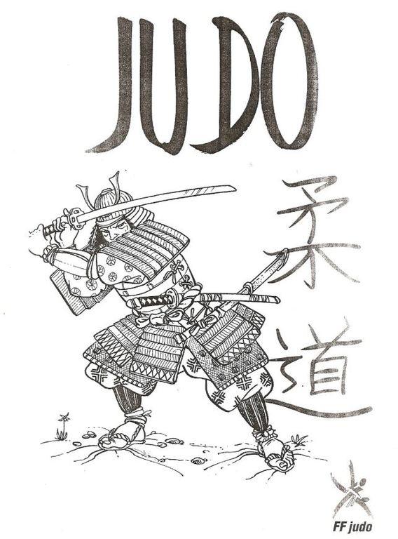 Coloriage Samourai Comite De L Eure De Judo